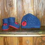 Ladybug Crochet Hat and Booties set..
