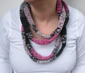 Extra Long Infinity Rope Scraf, crochet tube scarf, wrap scarf, ready to ship.