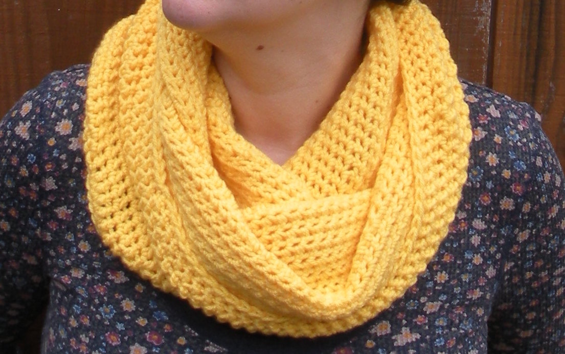 Crochet Snood : Sunshine Yellow Cowl Snood, Crochet Neckwarmer Scarf, Ready To Ship ...